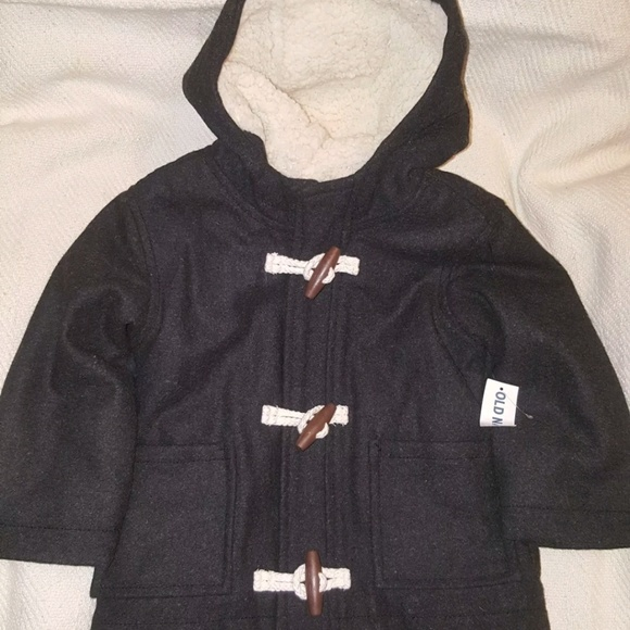 af6a22b17 Old Navy Jackets & Coats | Boys Charcoal Gray Hooded Toggle Coat ...